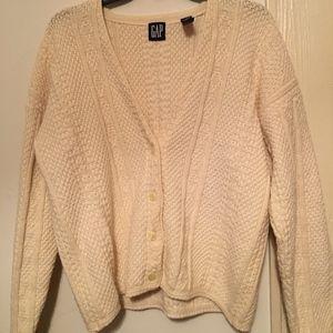 Cream Classic Sweater Cardigan